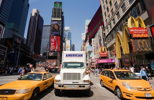 Times Square, New York City, New York, USA. : Stock Photo