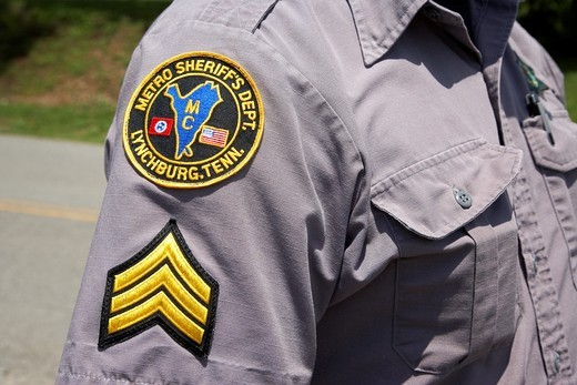 Stock Photo: 1566-855037 sergeant at metro sherrifs dept moore county Lynchburg, tennessee, usa