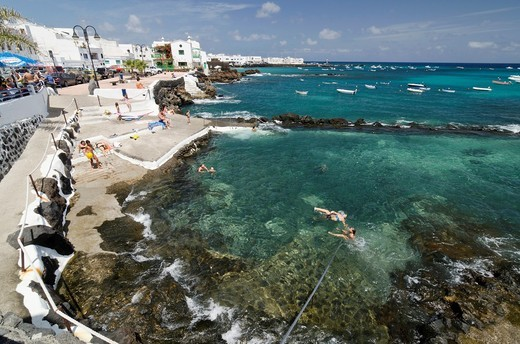 Punta Mujeres fishing village  Lanzarote, Canary Islands, Spain : Stock Photo