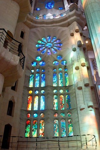 Stock Photo: 1566-855382 Sagrada Familia, Architect Antoni Gaudi, Barcelona, Spain