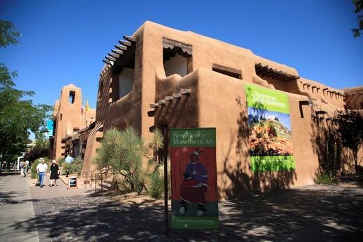 Museum of Fine Arts, Santa Fe, New Mexico, USA : Stock Photo