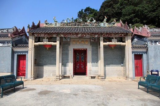 Stock Photo: 1566-855787 Hau Wong Temple, Tai O, Fishing Village, Lantau Island, Hong Kong, China, Asia