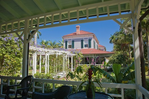 Stock Photo: 1566-856310 Seminole Lodge Edisons winter home at Edison and Ford Winter Estates in Fort Myers Florida