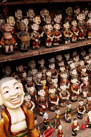 Stock Photo: 1566-856551 Vietnam  Hanoi  Temple of Literature  Water Puppet