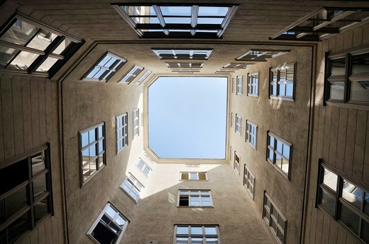 Low angle view of a building in Vienna, Austria, Europe : Stock Photo