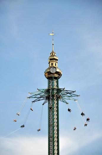 Chairoplane or swing carousel at the Prater, Vienna, Austria, Europe : Stock Photo