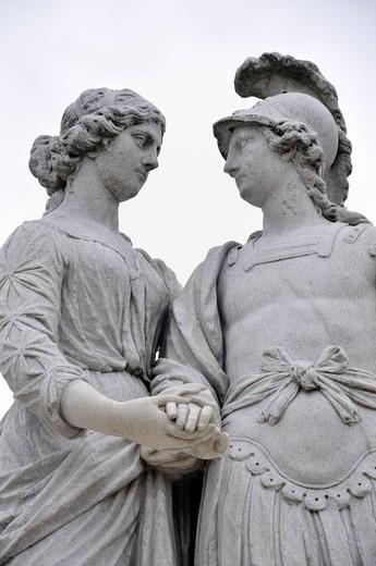Sculpture at Schoenbrunn Palace Park, Vienna, Austria, Europe : Stock Photo
