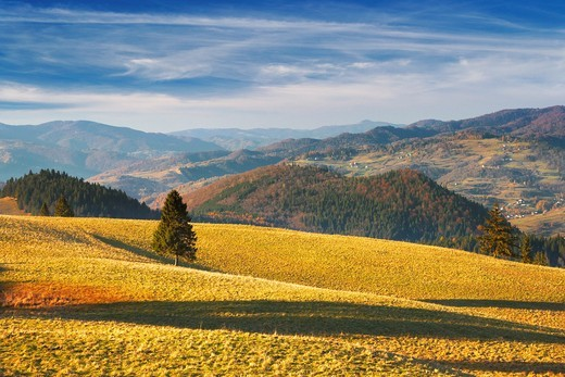 Stock Photo: 1566-857275 Small Pieniny Mountains , Poland, Europe
