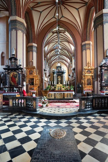 Stock Photo: 1566-857486 Frombork Cathedral from Copernicus Tower-interior, Poland, Europe