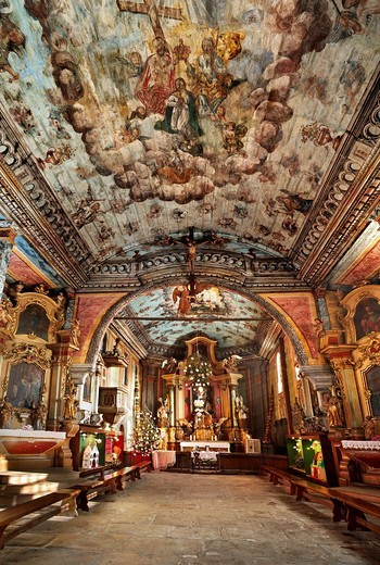 Wooden church in Rabka - interior, Poland, Europe : Stock Photo