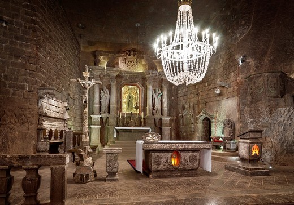 Wieliczka Salt Mine Unesco, Poland, Europe : Stock Photo