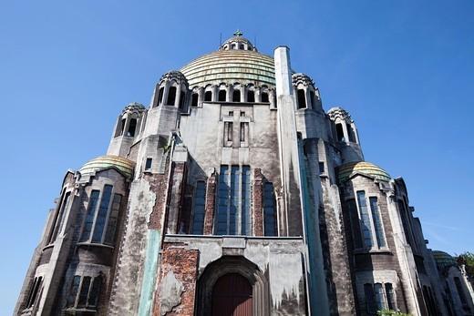 Basilica Sacré Coeur et Notre Dame de Lourdes, Liège, Wallonia, Belgium, Europe : Stock Photo
