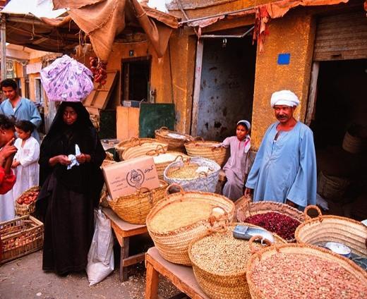 Stock Photo: 1566-858196 The Souk, Aswan, Egypt