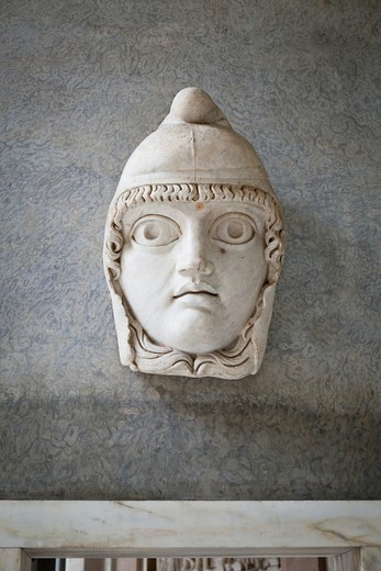 Stock Photo: 1566-859329 Mask of a satyr, Vatican museum, Rome, Italy