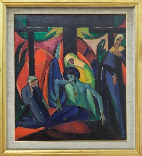 Stock Photo: 1566-859335 Kreuzabnahme Deposizione, Josef Eberz,1916,oil on canvas, Vatican museum, Rome, Italy