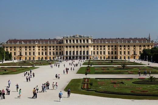 Austria, Vienna, Schonbrunn Castle : Stock Photo