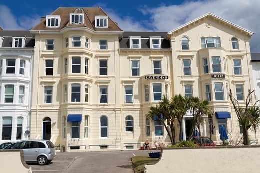The Cavendish Hotel in Exmouth Devon : Stock Photo