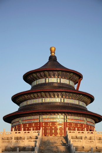 Stock Photo: 1566-861100 China, Beijing, Temple of Heaven, Hall of Prayer for Good Harvests