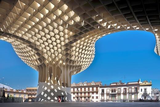 Stock Photo: 1566-861876 Metropol Parasol building, Seville, Spain