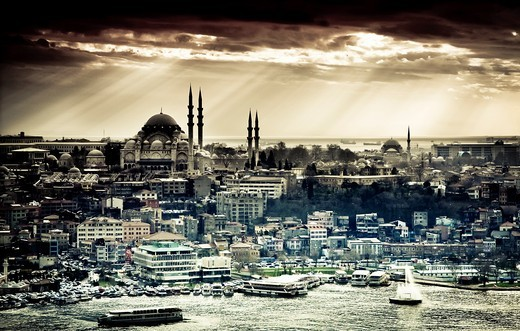 Stock Photo: 1566-861897 Cityscape  Istanbul, Turkey