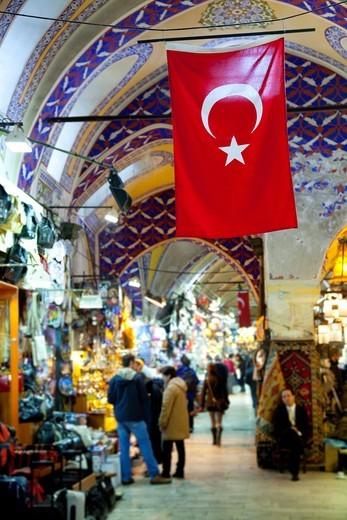 Street in Grand Bazaar  Istanbul, Turkey : Stock Photo