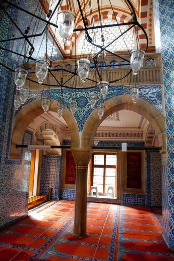 Rüstem Pasha Mosque or Rustempasa Camii  Istanbul, Turkey : Stock Photo