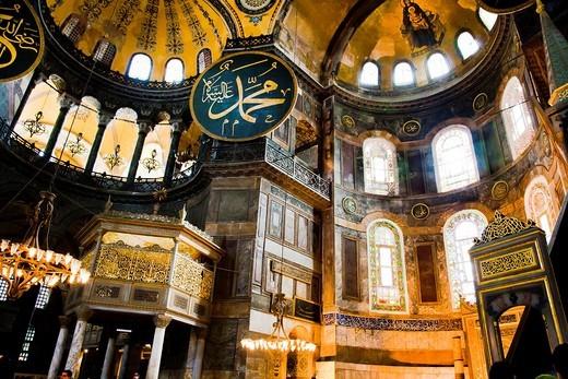 Stock Photo: 1566-861918 Hagia Sophia or Ayasofya  Istanbul, Turkey