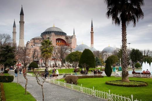 Stock Photo: 1566-861921 Hagia Sophia or Ayasofya  Istanbul, Turkey