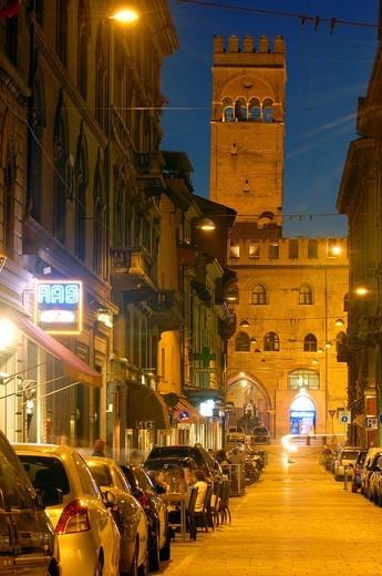 Stock Photo: 1566-863908 Bologna, palazzo del podestà, Podesta Palace, Emilia Romagna, Italy.