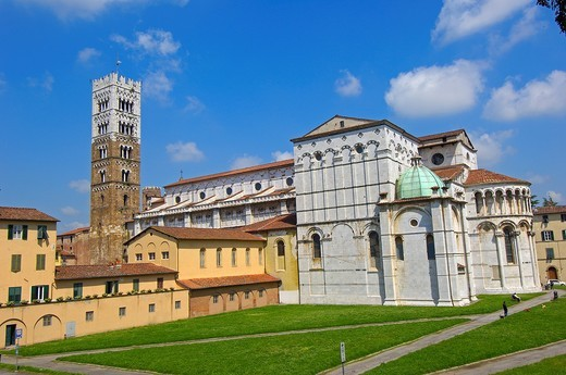 Lucca, Cathedral, Duomo di San Martino, St Martin Cathedral, Tuscany, Italy. : Stock Photo