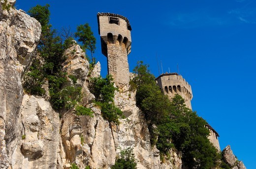 Stock Photo: 1566-864238 San Marino  Rocca fratta, Fratta Tower  Monte Titano  Republic of San Marino  Italy  Europe.