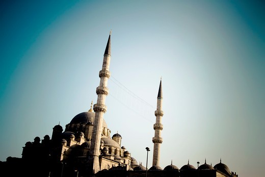 Stock Photo: 1566-865645 The Yeni Camii, The New Mosque or Mosque of the Valide Sultan  Istanbul, Turkey