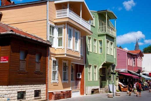 Stock Photo: 1566-865665 Ottoman houses  Eyup district  Istanbul, Turkey