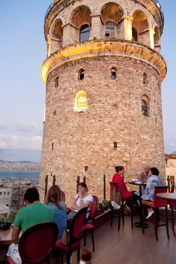 Stock Photo: 1566-865678 Galta Tower  Istanbul, Turkey