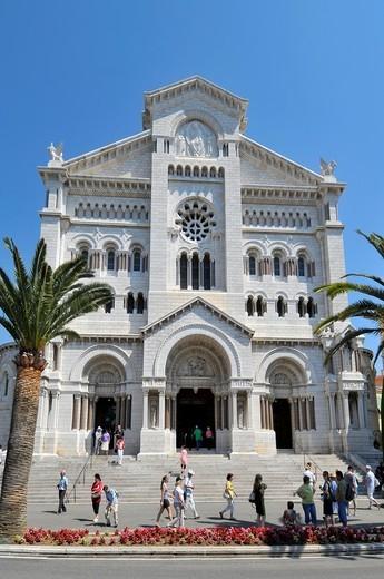 St  Nicholas Monte Carlo Cathedral Monaco Principality French Riviera Mediterranean Cote d´Azur Alps : Stock Photo