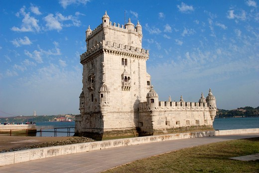 The Tower of Belem, Belem, Lisbon, Portugal : Stock Photo