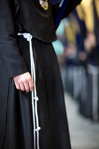 Stock Photo: 1566-867898 Detail of a penitent´s habit, Holy Week 2008, Seville, Spain