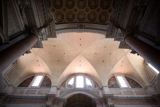 Transept of Santa Maria degli Angeli e dei Martiri basilica, Rome : Stock Photo