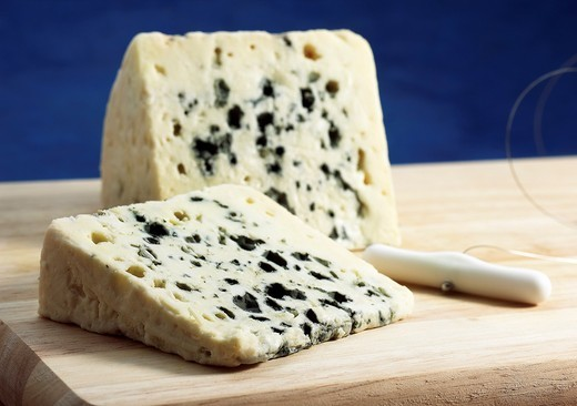 French Cheese called Roquefort, Cheese made from Ewe´s Milk : Stock Photo