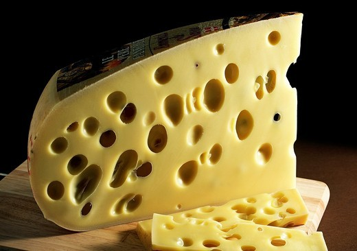 Emmental, Swiss Cheese made from Cow´s Milk : Stock Photo