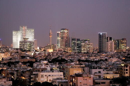 View over the skyline of Tel Aviv, Israel : Stock Photo