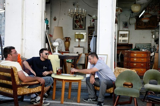 the flea market in Jaffa, Tel Aviv, Israel : Stock Photo