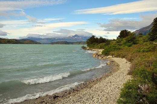 Lago Nordenskjöld, Parque Nacional Torres del Paine, Chile : Stock Photo