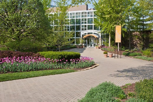 Stock Photo: 1566-869947 Entrance to the Conservatory at Franklin Park in Columbus, Ohio