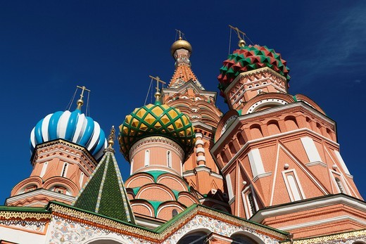 Russia, Moscow Oblast, Moscow, Red Square, Saint Basils Cathedral : Stock Photo
