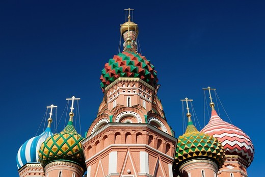 Stock Photo: 1566-871254 Russia, Moscow Oblast, Moscow, Red Square, Saint Basils Cathedral