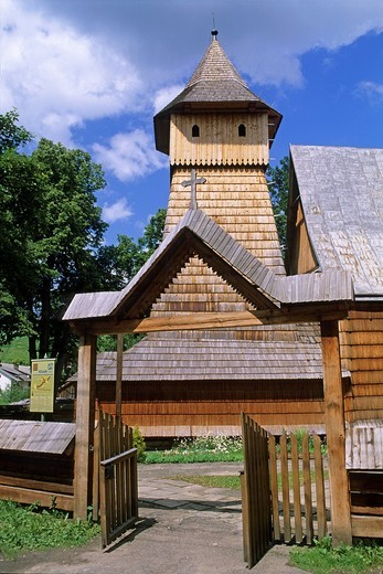 Stock Photo: 1566-871481 Poland, World Heritage Site, Binarowa, Church of the Archangel Michael 16th C