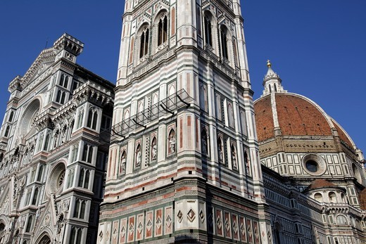 Stock Photo: 1566-871531 The Duomo of Santa Maria del Fiore and Giotto belfry, Florence, Italy