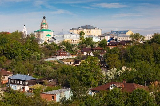 Stock Photo: 1566-871741 Russia, Vladimir Oblast, Golden Ring, Vladimir, elevated town view from Assumption Cathedral