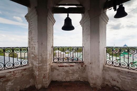 Russia, Vladimir Oblast, Golden Ring, Suzdal, Resurrection Church belltower : Stock Photo